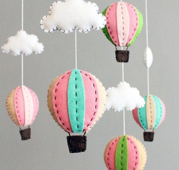 Decoración + DIY: Móviles para cuna de globos aerostáticos - Mamis ...