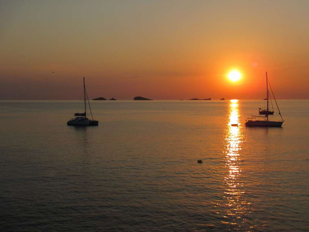 Atardecer en Ibiza con bebé