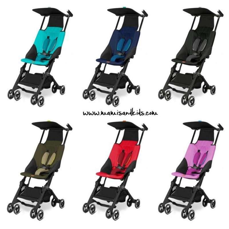Diferentes modelos de la silla ligera GB Pockit