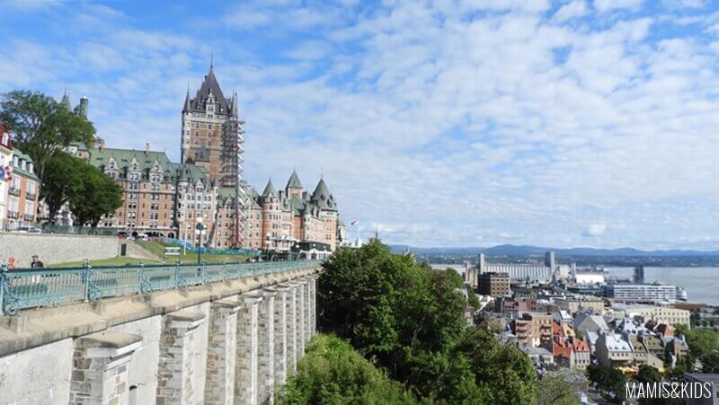 Vistas del Chateau Frontenac de Quebec